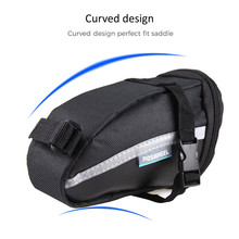 1.2L Waterproof Outdoor Bicycle Tail Pack Cycling Bike Bicycle Strap-On Rear Tail Back Saddle Bag Seat Bag Storage Tail Pouch b soul ya130 bike bicycle oxford quick release saddle seat tail bag w reflective strips black