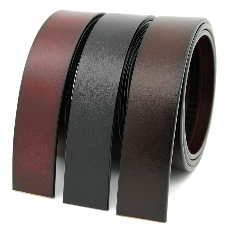Brand Belt 100% Pure Cowhide Belt Strap No Buckle Genuine Leather Belts Automatic Buckle Belt For Men High Quality AS12Q