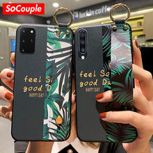 Socouple Telefoon Houder Case Voor Samsung Galaxy A50 A51 A71 A70 A30 A20 S9 S8 S10 S20 Plus Ultra Note 8 9 10 Plus Wrist Strap Case(China)