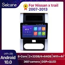 Seicane Android 10 DSP QLED tv 8-rdzeń 4G Radio samochodowe odtwarzacz multimedialny GPS jednostka główna dla Nissan x trail t31 2007 2008-2013 Qashqai