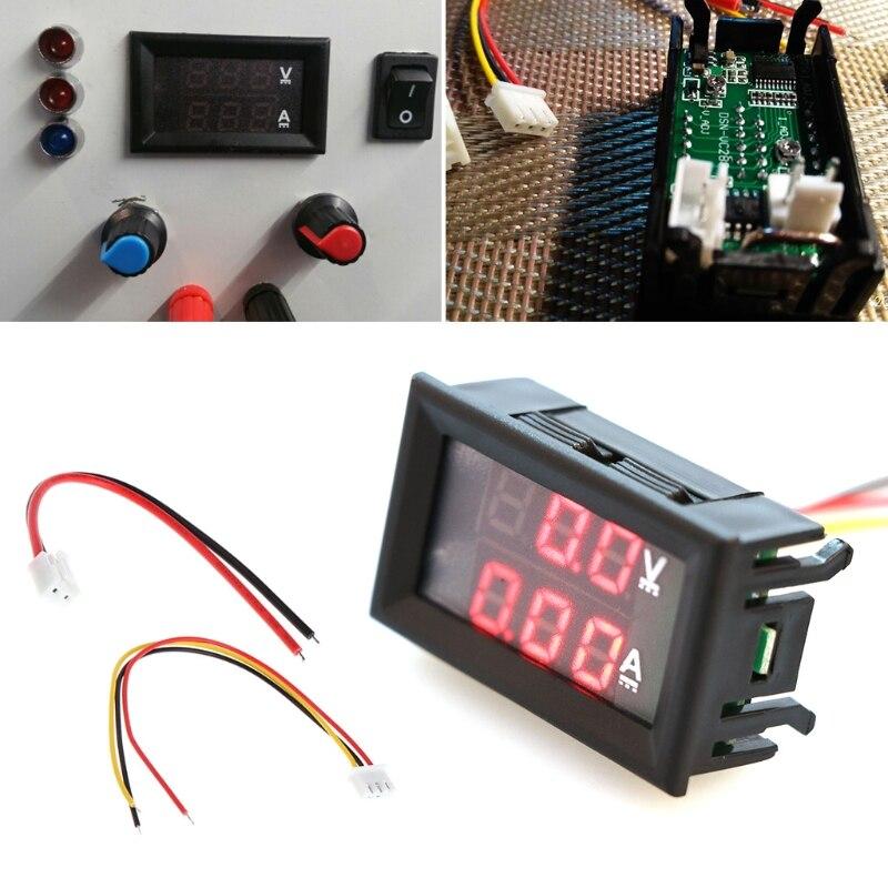 OOTDTY rojo CC 0-100 V/10A amperímetro voltímetro medidor amperómetro voltímetro coche LED Tester Digital corriente voltaje Monitor