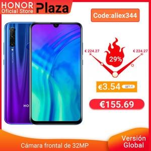 -3 евро Код: HOLA2 глобальная версия Honor 20 Lite 4G 128G Kirin 710 смартфон передний 32MP Face ID 24MP задняя камера google play