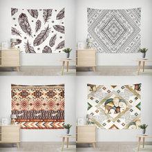 2020 neue Dekorative Böhmischen Polyester Tapisserie Gedruckt Böhmen Stil Wand Weiß Tapisserie Strand Handtuch Wand Hängen Wohnkultur