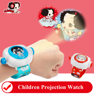 ddung Children Projection Watch Cartoon Boy Girl Electronic Watch 24 Projections Educational Toy Watch > 3 Years Child Toys