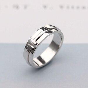 Классическое двойное кольцо SHINETUNG, ювелирное изделие из стерлингового серебра 925 пробы, 1: 1, с логотипом, подарок на день рождения, День свято...