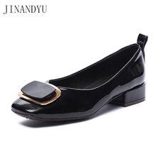 Женские туфли лодочки из лакированной кожи на низком каблуке