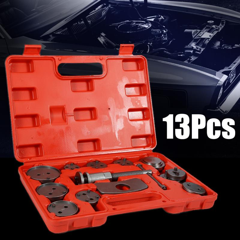 13PCS Auto Car Precision Disc Brake Caliper Wind Back Tool Kit Brake Pad Brake Pump Brake Piston Car Repair Tool Kit