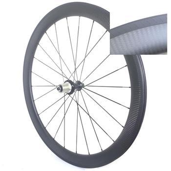 Koła rowerowe węgla drogowego 38mm 50mm 60mm głębokość hamulec laserowy utwór clincher węgla drogowego koła rurowe tanie i dobre opinie TIMETECBIKE 24-30 h MATT OR GLOSSY Rowery drogowe 700C CARBON WXC3523 V hamulca
