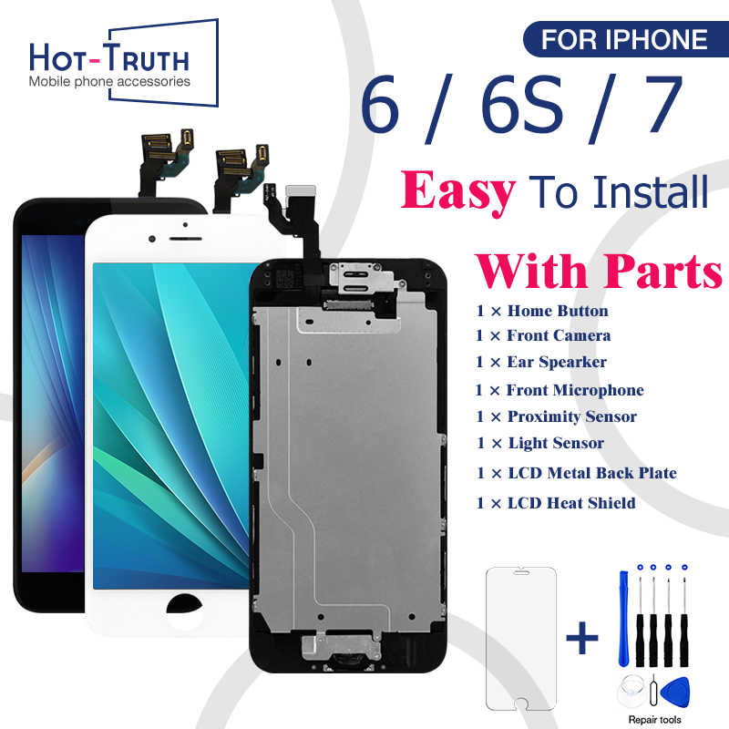 For iPhone 6 6S 7 LCD Full Assembly Complete Display For iPhone 6 6s 100% With 3D Touch Screen Camera+Button AAA+++ Replacement