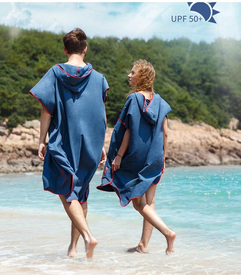 Naturehike secagem rápida roupão praia à beira-mar