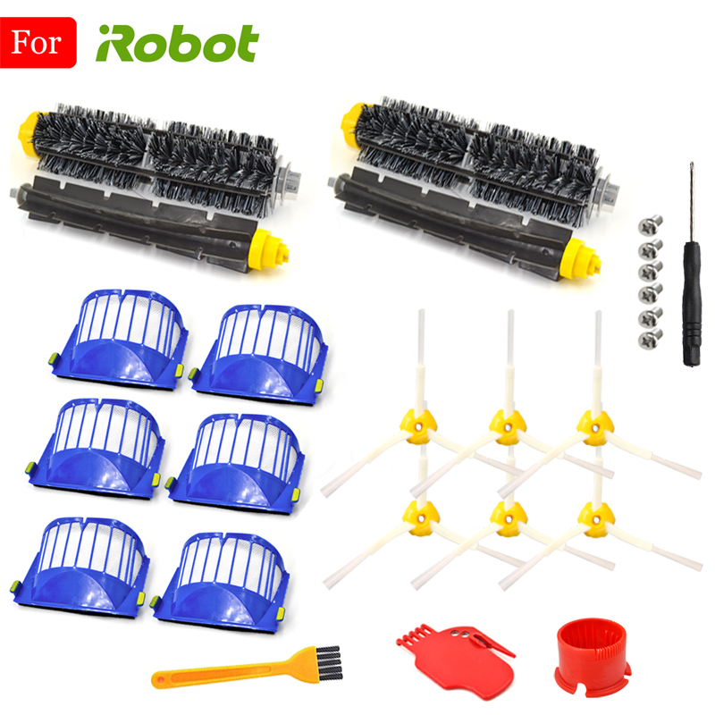Filter Brush Kit For iRobot Roomba 600 Series 615 616 620 621 631 651 650 690 680 605 Cleaning Tools Beater Brush Filters Kit image