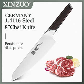 """XINZUO 8\"""" Chef Knife DIN 1.4116 Stainless Steel Germany Kitchen Knives Cutting Peeler Vegetable Knife Ebony Handle Gift Case - DISCOUNT ITEM  36 OFF Home & Garden"""