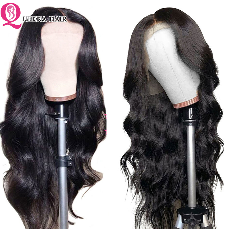 13x4 Lace Front Human Hair Wigs For Black Women Peruvian Hair Body Wave Transparent Lace Wig Pre Plucked With Baby Hair Remy