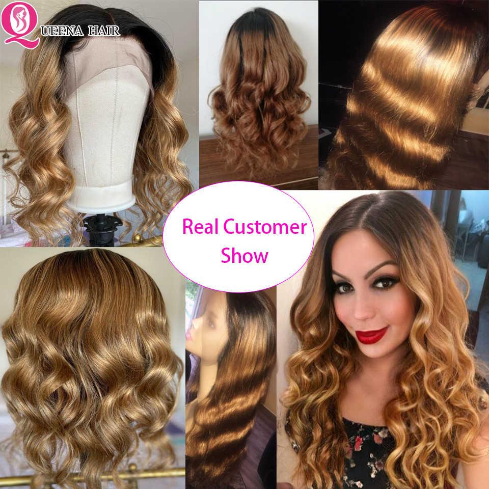Blonde Lace Front Pruik 13X4 Body Wave Gekleurde Lijmloze Kant Menselijk Haar Pruiken Braziliaanse Ombre Zwart Bordeaux Natuurlijke kant Pruik Remy