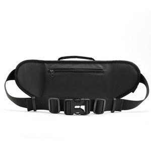 Image 2 - Waterproof waist bag Man Money Belt Bag Teenagers Travel Wallet Belt Male Waist Pack Cigarette Case for Phone