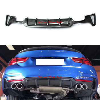Rear Bumper lip Diffuser for BMW 4 series F32 F33 F36 M-Tech/M-Sport 418i 420i 428i 430i 435i 440i 2014+ FRP & Carbon Fiber image