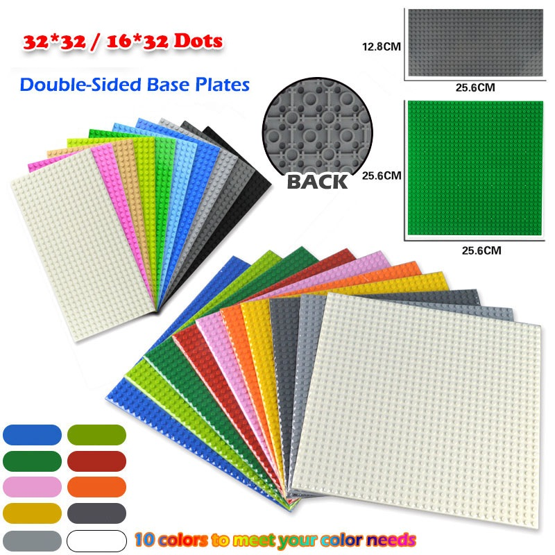 Classic Base Plates 32*32/16*32 Dots Double Sided Baseplates DIY Building Bricks Blocks Accessories Kids Toys