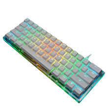Mechanical Gaming Keyboard With Rgb Led Backlit, Acrylic Base And 61-Key Anti-Ghosting Blue Switch For Pc Laptop