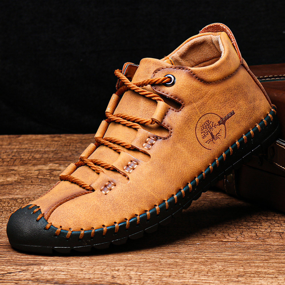 Autumn Martin Boots Men's Mid-size Large Tooling Short Boots Korean High-top Boots Men's Shoes