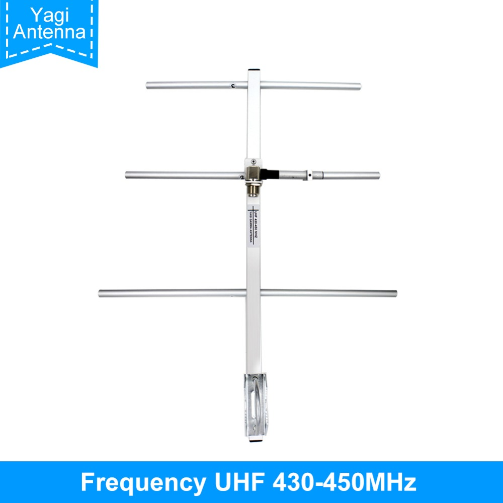 Ailunce AY01 High Gain Yagi UHF 430-450MHz Female Connector Walkie Talkie Yagi-Uda Antenna Ham Radio Antenna