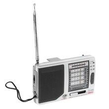 KK-9803 FM/MW/SW1-8 pełne 10 zespół Hi-czułość radia odbiornik z składany stojak na D08A