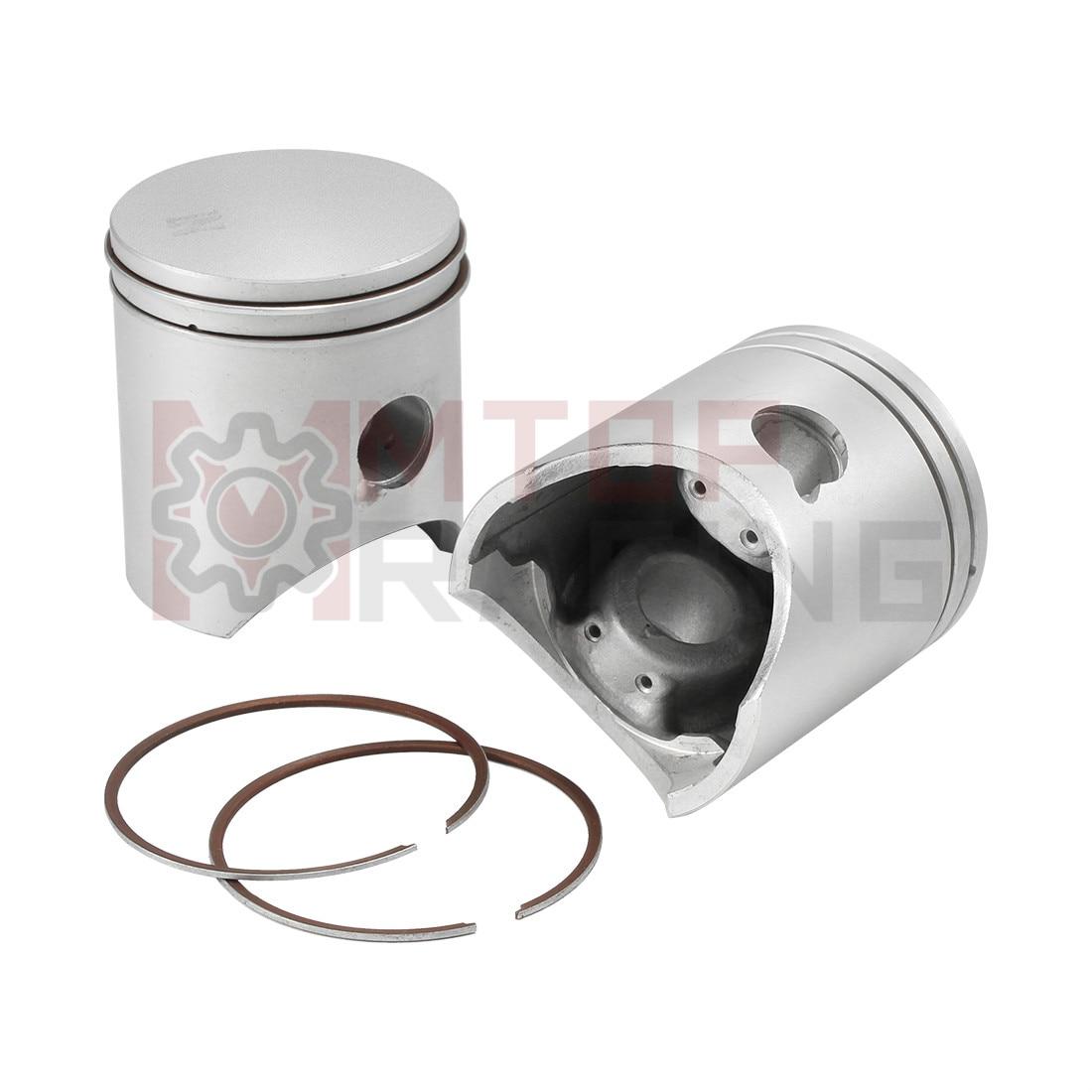 2Set Piston Ring for Honda NSR250 MC16 MC18 NSR250R4 MC21 NSR250R5 MC28 STD 54mm