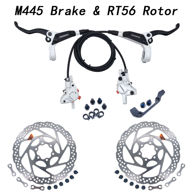 New Shimano BR-BL-M446 M447 Hydraulic Brake set black with RT56 or RT54 Rotors
