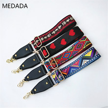 MEDADA Adjustable women wide shoulder strap color single inclined new type  accessories for bag