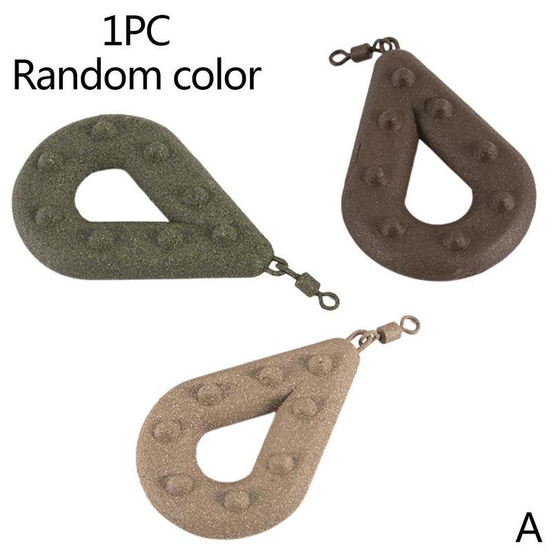 Three-color Random European Oyster Fishing Environmental Protection Coating Flat Lead Pendant Bawang Sandbag Pendant