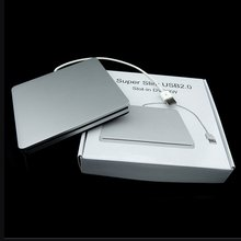 Laptop Type Suction Super Slim USB 2.0 Slot In External  DVD CD Reader and CD Writer External Drives Box Enclosure Case