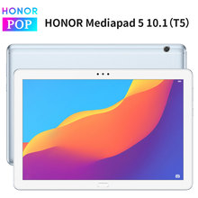 오리지널 화웨이 명예 MediaPad T5 10.1 인치 1080p 풀 HD IPS 기린 659 옥타 코어 안드로이드 8.0 명예 타블렛 5 지문 잠금 해제