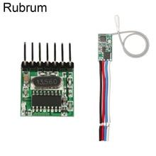Rubrum RF 433 Mhz 1527 Learning Code Wireless Remote Control Transmitter Module & 433.92Mhz DC 12V 24V Mini Receiver DIY Kit