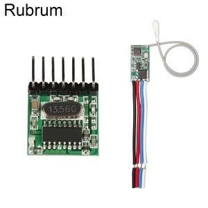 Image 1 - Rubrum RF 433 Mhz 1527 Mã Học Điều Khiển Từ Xa Không Dây Module Phát & 433.92 MHz DC 12V 24V máy Thu Mini DIY