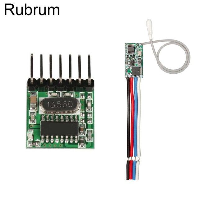 Rubrum RF 433 Mhz 1527 Mã Học Điều Khiển Từ Xa Không Dây Module Phát & 433.92 MHz DC 12V 24V máy Thu Mini DIY