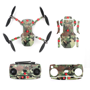 Image 5 - Waterdichte Decoratieve Sticker Decal Skin Wrap Cover Kit voor DJI Mavic Mini Drone Accessoires Onderdelen