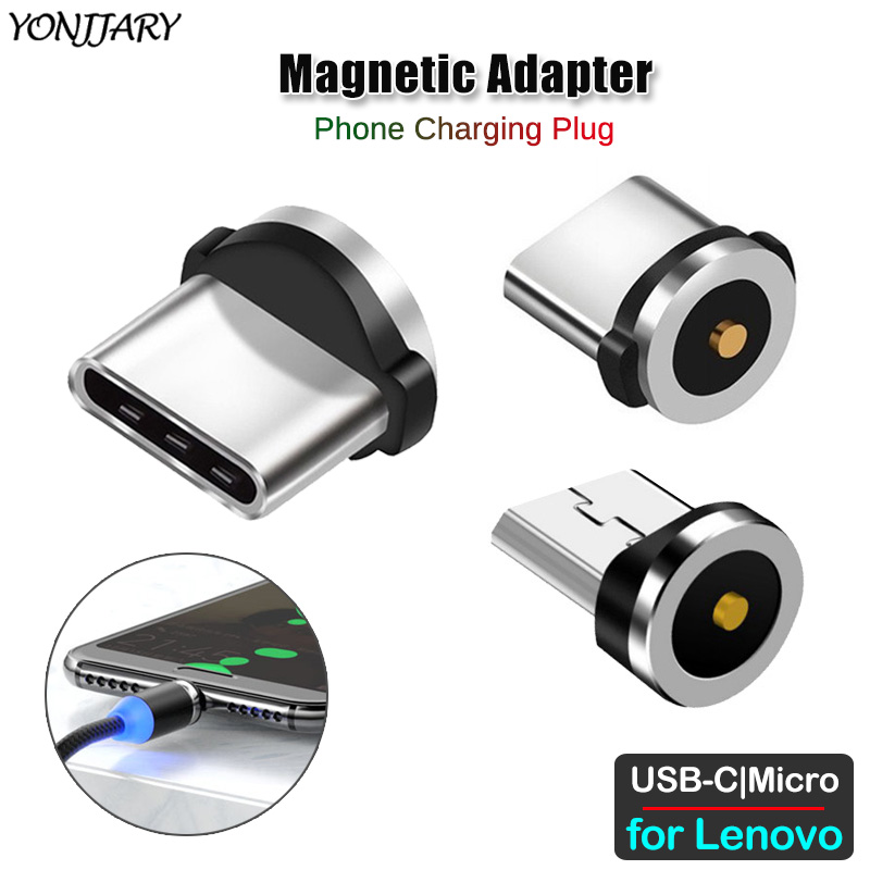 Round Magnetic Charging Cable Adapter For Lenovo Z5S Z5 Z6 Pro Lite S5 K520 K6 K8 K9 K10 A6 Note Plus Pro Micro USB Type C Plug