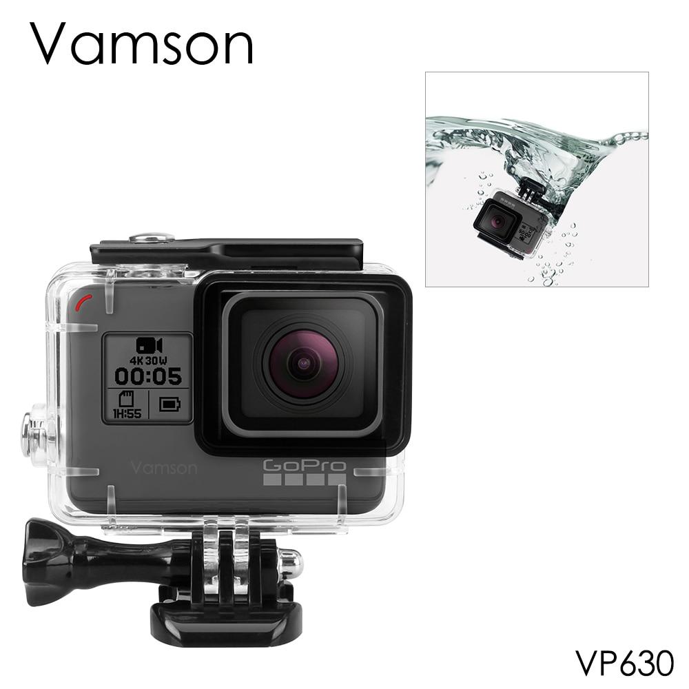 Vamson pour Gopro Hero 7 6 5 accessoires boîtier de Protection étanche plongée 45M de Protection pour Gopro Hero 6 5 caméra VP630