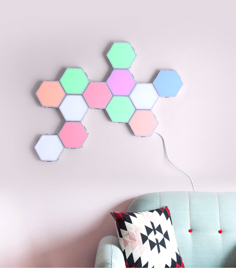 New DIY Honeycomb Quantum Lamp Touch Sensitive Dyena Night Lamp Modular Hexagon Luminaria Creative Decoration Helios Touch Lamp