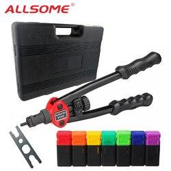 ALLSOME BT-605 гайковерт пистолеты двойной ручной Клепальщик ручной Клепальный Инструмент метрический SAE