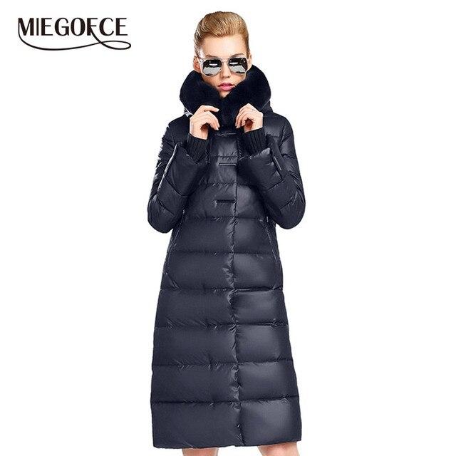 MIEGOFCE 2019 Women's Coat Jacket Medium Length Women Parka With a Rabbit Fur Winter Thick Coat Women New Winter Collection Hot 1