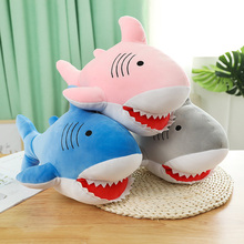 цена New 1PC 47CM Shark Plush Toys Sleeping Pillow Toy Gift Shark Cute Stuffed Animal Fish Pillow Toys For Children Warm Hand Pillow онлайн в 2017 году