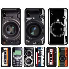 Retro caixa do telefone digital para huawei p9 p10 p20 p30 p40 lite por psmart 2019