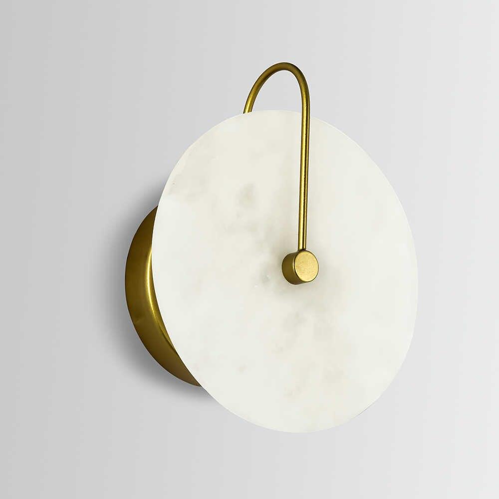 Zerouno nova lâmpada de parede de mármore sala 16cm 25cm led luzes de parede preto ouro industrail moderno arandelas de parede de mármore luminárias