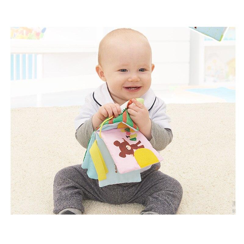 Bandai Infant Newborn Educational Toy Bear School Early Learning Fabric Book Car Hanger Infant Educational Toys