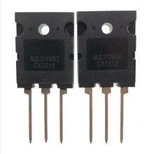 5 пар, MJL21195G MJL21195 + MJL21196G MJL21196 TO 3PL 16A 250V 200W NPN PNP, кремниевый силовой транзистор, новый и оригинальный