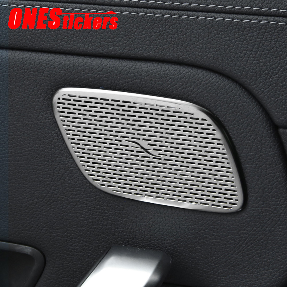 For Mercedes Benz A Class W177 V177 2019 2020+ Car Styling Rear Door Loundspeaker+A Pillar Audio Speakers Cover Trim Accessories