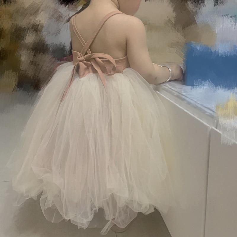 Baby Girls Dress Fluffy Tulle Suspender Dress Children Summer Princess Dress Toddler Dresses X79