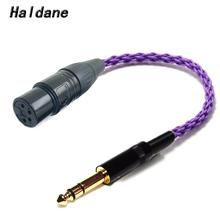 Haldane HIFI 6.35mm 1/4 Male to 4 Pin XLR Female Balanced Connect TRS Audio Adapter Cable 6.35mm to XLR Silver Plated Connector