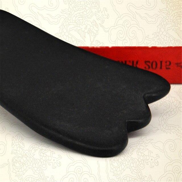 Czarny Bian kamień kształt trójkąta Gua Sha deska energia deska masaż akupunkturowy relaks ciało noga ramię twarz opieka zdrowotna przyrząd kosmetyczny