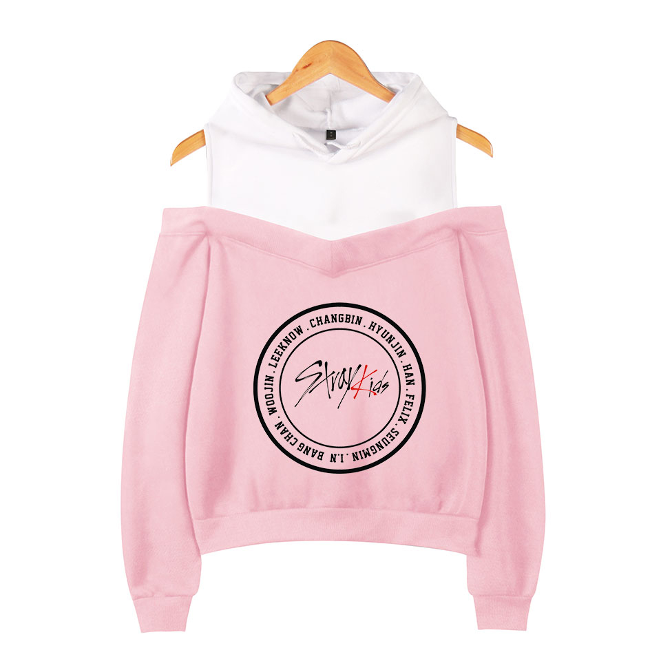 Stray Kids Off-shoulder Sweatshirts